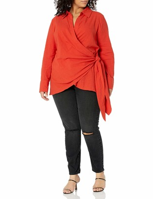 Forever 21 Women's Plus Size Surplice Wrap Top
