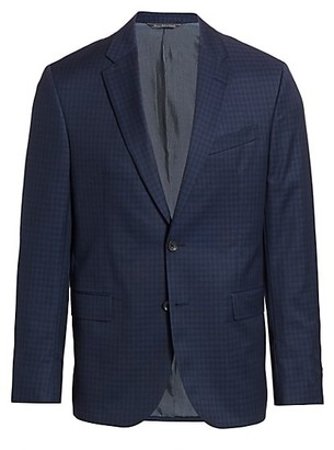 Saks Fifth Avenue MODERN Subtle Check Suit Jacket