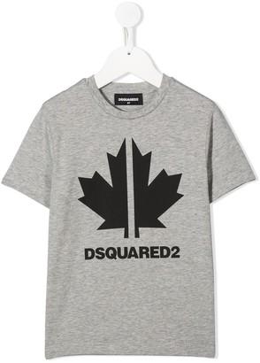 DSQUARED2 sport maple leaf T-shirt