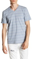 Public Opinion Variegated Stripe V-Neck Tee