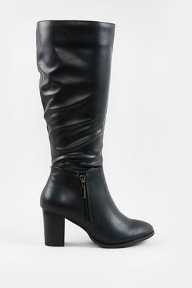 Wallis **Black Side Zip High Leg Boot