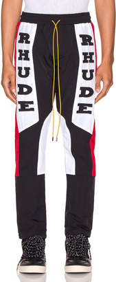 Rhude Rhacing Pant in Black & White & Red | FWRD
