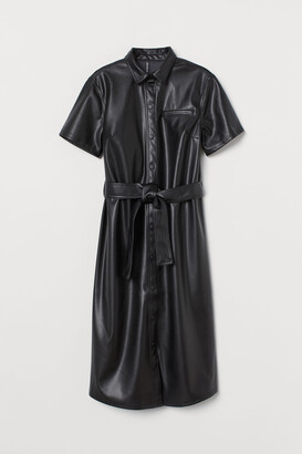 H&M Faux Leather Dress