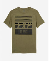 Express EXP nyc textured graphic tee