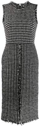 Alexander McQueen boucle tweed midi dress