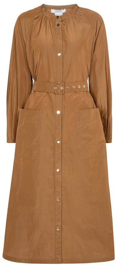 S Max Mara Ebbro belted poplin shirt dress