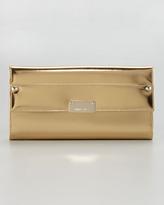 Jimmy Choo Reese Metallic Leather Wallet Clutch Bag, Gold