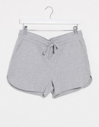 ASOS DESIGN organic lightweight jersey runners shorts in grey marl