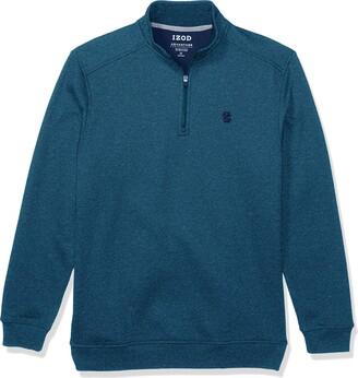 Izod Men's Big & Tall Tall Advantage Performance Quarter Zip Fleece Pullover