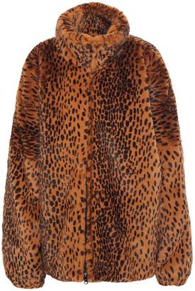 Sprwmn Leopard-print Faux Fur Coat