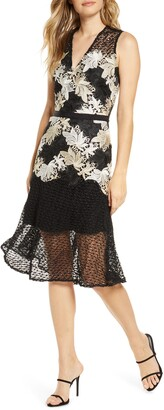 Adelyn Rae Lizette Lace Midi Dress