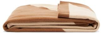 Allude Two-tone Cashmere Blanket - Brown Multi