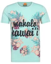 Hugo Boss Tomsin Cotton Printed T-Shirt L Turquoise