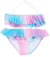 Stella Cove Girl's 'Pastel Rainbow' Ruffle Two-Piece Swimsuit