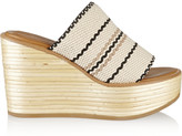 See by Chloe Kenna woven cotton wedge sandals