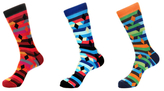 Jared Lang Diamonds and Stripes Socks (3 PK)
