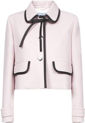 Prada Contrast Trimmed Bow Detail Jacket