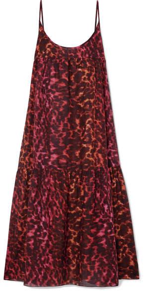 Stella McCartney Leopard-print Cotton And Silk-blend Maxi Dress - Leopard print