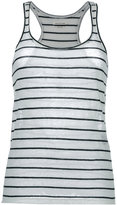 Etoile Isabel Marant stripe vest top - women - Cotton/Linen/Flax - M