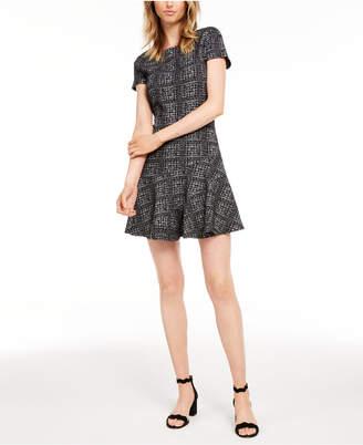 Maison Jules Plaid Fit & Flare Dress