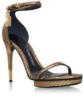 Tom Ford Maison Snakeskin Platform Sandals