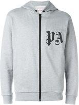 Palm Angels logo zipped hoodie