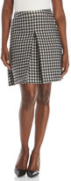 Pink Tartan Flocked Houndstooth Skirt