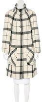 Magaschoni Plaid Wool Coat
