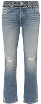 Amo Tomboy Crop Contrast Jeans