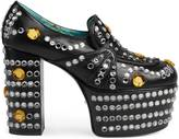 Gucci Crystal studded leather loafer