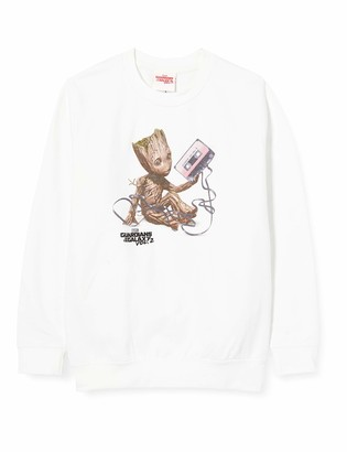 Marvel Boy's Guardians of The Galaxy Vol2 Groot Tape Sweatshirt