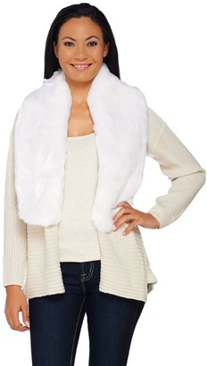 Halston H By H by Silk-Cashmere Blend Cardigan with Removable Faux Fur Collar
