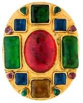 Chanel Multicolor Gripoix Oval Brooch