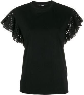 Karl Lagerfeld Paris ruffle T-shirt