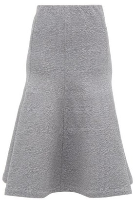 Vika Gazinskaya Trumpet-hem Cotton-blend Jersey Midi Skirt - Womens - Grey