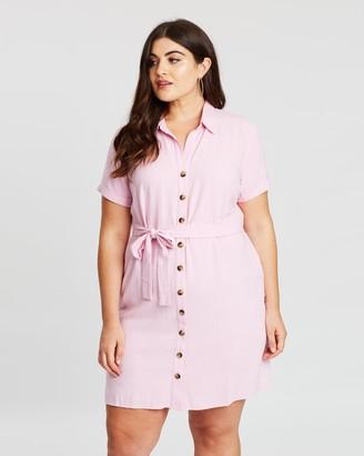 Atmos & Here Liana Button Front Mini Dress