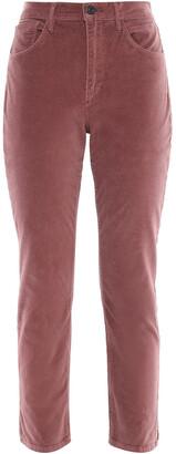 3x1 W3 Higher Ground Cropped Stretch-cotton Velvet Slim-leg Pants