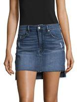 Design Lab Lord & Taylor Cut-Off Mini Skirt