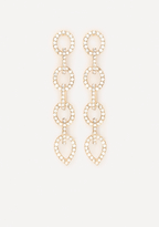 Bebe Chainlink Linear Earrings