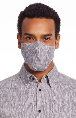 Brooklyn Brigade Herringbone Assorted 2-Pack Adult Adjustable Contoured Cotton Face Masks