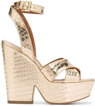 Paris Texas Cross Strap Wedge Heels