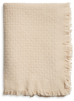 A & R Cashmere Basketweave Cashmere Blend Throw