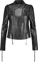 Dion Lee Braided leather biker jacket
