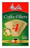 Melitta Natural Brown #4 Coffee Filter - 100 ct