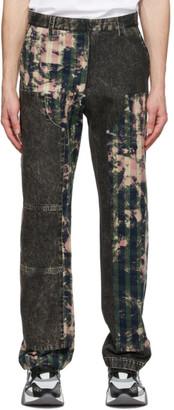 Versace Grey Tartan Motif Jeans