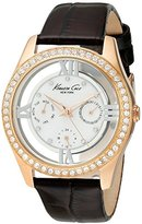 Kenneth Cole New York Women's KC2818 Transparency Mother-Of-Pearl Dial Multi Stone Bezel Watch