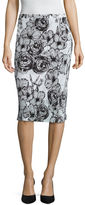 Liz Claiborne Floral Knit Pleated Skirt