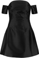 Carven Off-the-shoulder satin-twill mini dress