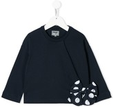 Il Gufo polka-dot bow T-shirt