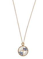 AURÉLIE BIDERMANN FINE JEWELLERY Diamond, sapphire & yellow-gold necklace